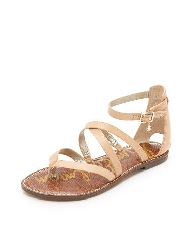 On SALE at 70% OFF! Gilroy Flat Sandals by Sam Edelman. Slim straps crisscross these smooth leather Sam Edelman sandals. Petite logo accent at the buckle ankle strap. Synthe...
