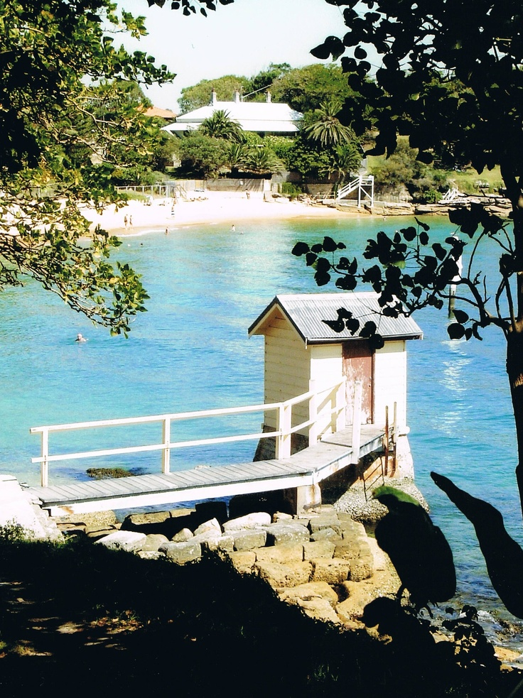 The little hut at Camp Cove, Watsons Bay, Sydney.  Camp Cove Beach in the background.  Photo by Stephanie Yee.