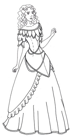 paper dolls for historic costumes, Jane Eyre and the