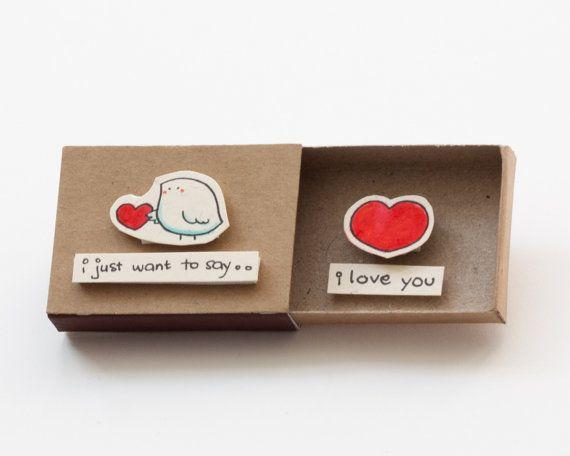 cute love card anniversary card matchbox by shop3xu on etsy matchbox messages pinterest. Black Bedroom Furniture Sets. Home Design Ideas