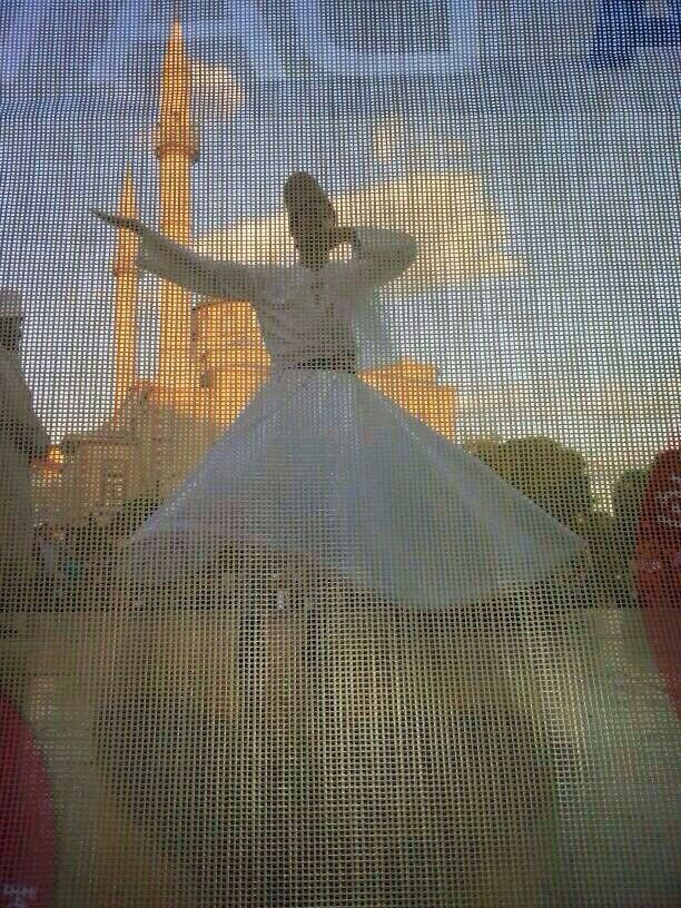 """If you only say one prayer in a day, make it Thank you."" RUMI - sufi dancing Tolga Aktekin"