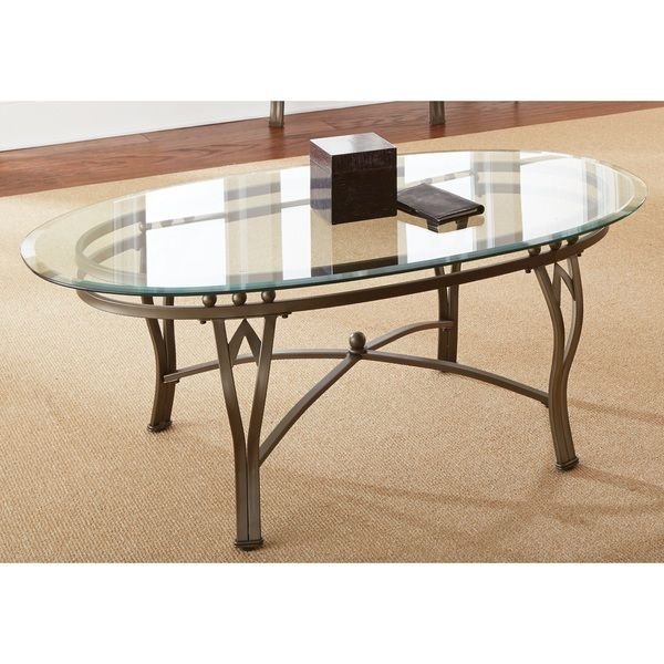 Greyson Living Maison Glass-top Oval Coffee Table | We have this table and <3 it!