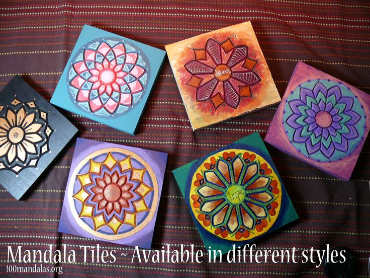 Wood Mandala Tiles ready to paint. $18.50 https://www.etsy.com/shop/TrueNorthArts?section_id=16417751&ref=shopsection_leftnav_4