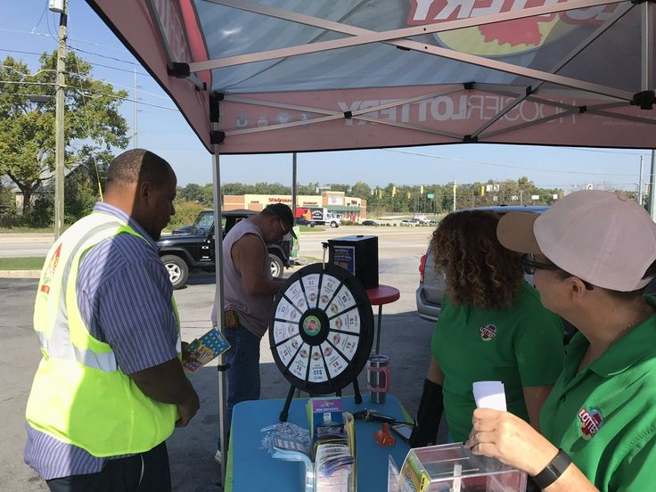 Our prize wheel is filled with Scratch-offs! Stop by Phil's One Stop on Leo Road in Fort Wayne until 1pm to find out how to spin. Read more about the Prize Wheel at https://PrizeWheel.com/blog/.