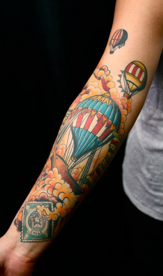 Air Balloon Tattoo. so random but cool!