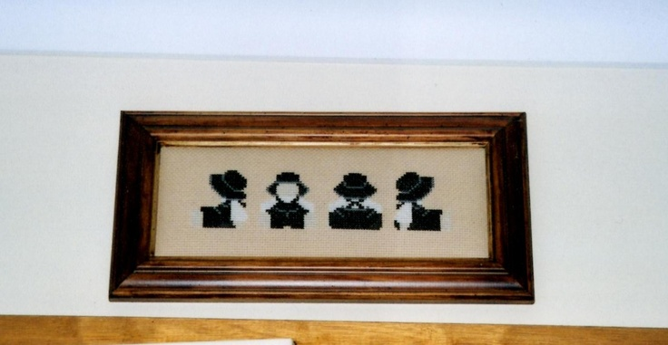 Small Amish cross stitch to remember my visit to Lancaster County