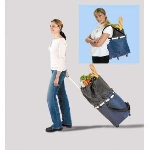 Amazon.com: 2 IN 1 BACK SAVING ROLLING TOTE TROLLEY ...