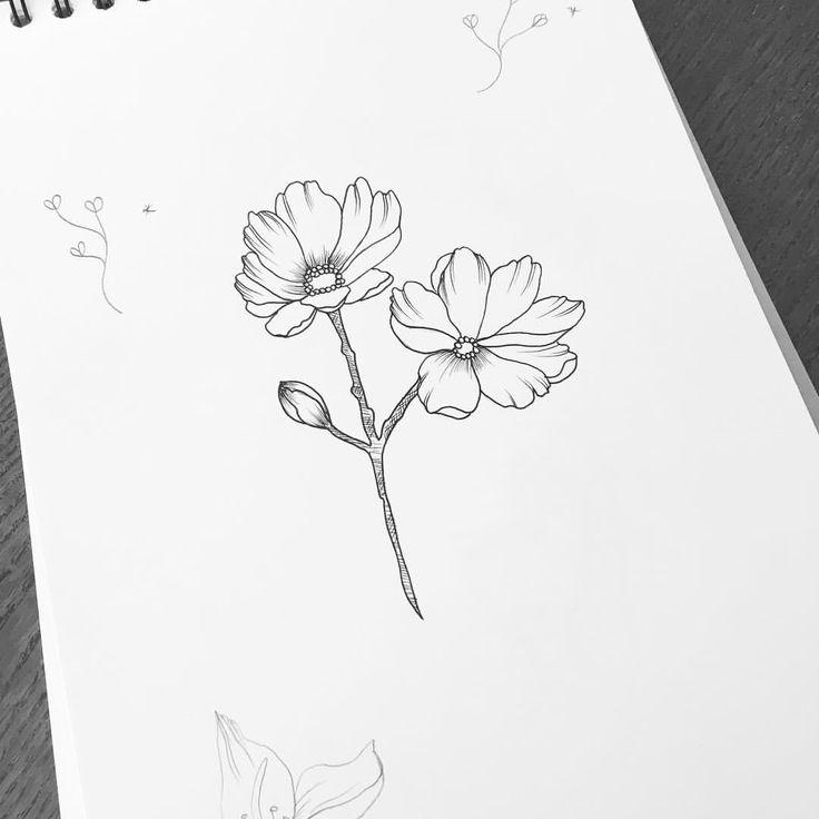Hey Monday #graphicbyd #tattoodesign #minimalist #flowertattoo #flowers #art #artwork #visuals #simplicity #tattoo #illustration #flowerstagram #instadrawing #drawing #ink #linework #lines