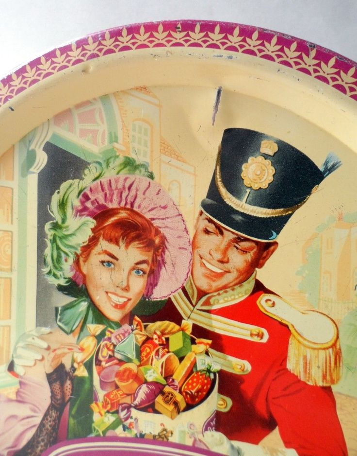 Vintage Christmas Toffee Chocolates Tin Quality Street Crinoline Lady Soldier Christmas Snowman 1960s £20 from www.retonthenet.co.uk