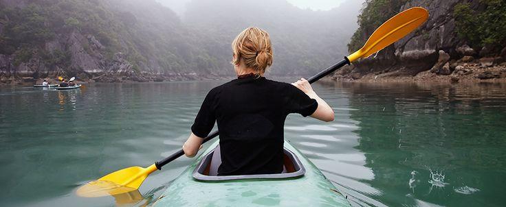 Kayaking in Halong Bay. #vietnam #kayaking #halongbay #travel #wandering