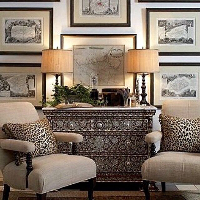 Home Art Gallery Design: House Of Lily Dutch-gallery Wall, Leopard Pillows