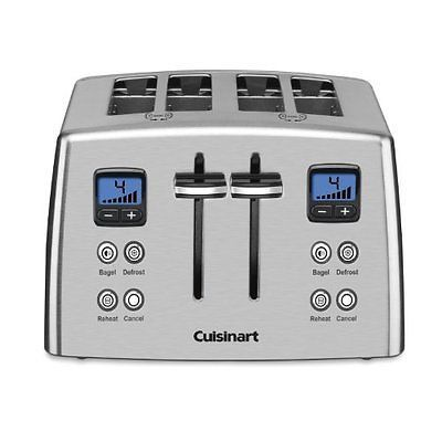 4 Slice Toaster Stainless Steel Toasters Crumb Tray Countdown Toaster Kitchen NEW