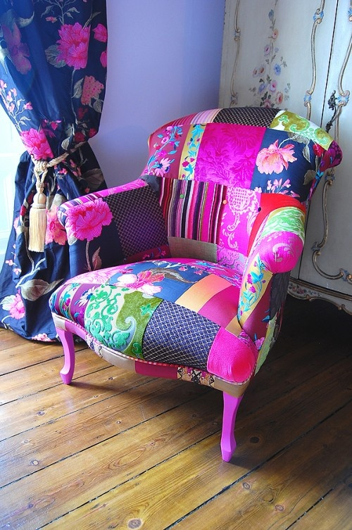 patchwork chair -sitting area                                                                                                                                                                                 More