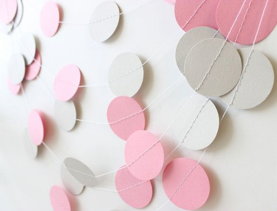 Pink & Gray Baby Garland by MailboxHappiness on Etsy
