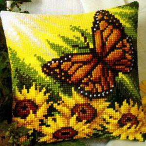 Набор  для вышивания крестиком подушки  VERVACO Солнечный день Вервако 1200-955