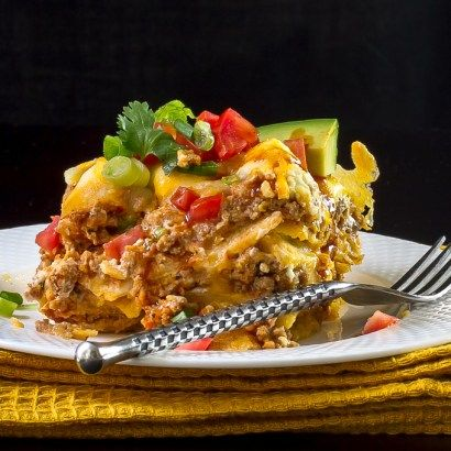 Here's a versatile Mexican Taco Casserole that can be changed up to add all the taco ingredients you like.