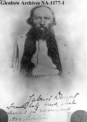 Portrait of Gabriel Dumont, Red River, Alberta. Metis leader. [ca. 1880s]    Date: [ca. 1880s]