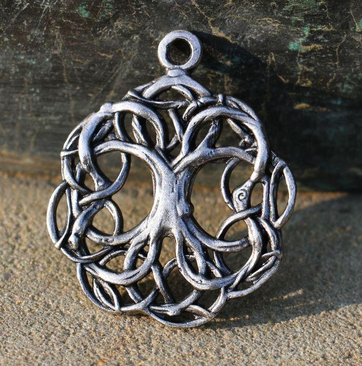 Celtic TREE of LIFE Pewter Pendant Tin Necklace Charm Pagan Wicca Heathen Arbor Vitae Yggdrasil Viking Vikings Norse Mythology Fantasy Sca by WulflundJewelry on Etsy https://www.etsy.com/listing/286364585/celtic-tree-of-life-pewter-pendant-tin