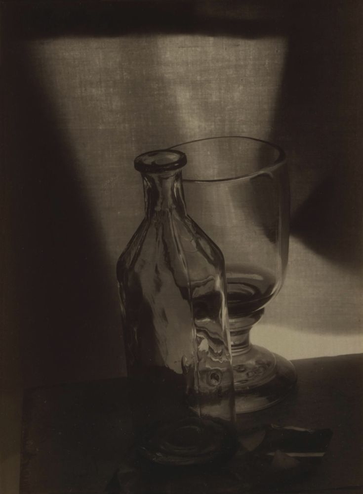 Josef Sudek. Still Life with Glass and Bottle