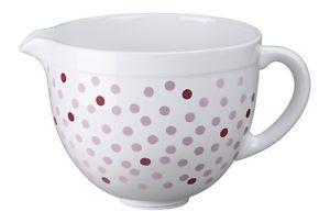 KitchenAid Keramikschüssel 4,8 L Weiß mit pinken Punkten (5KSMCB5NPD)