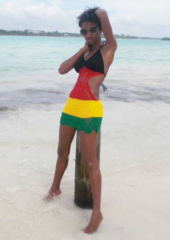 HATAZis a 100% cotton, handmade crochet Jamaicancolor see through bikini cover uphandcrafted by our skilled artisans in West African (Ghana). This crochet summer dress ideal as bikini cover up is fancy, sexy, and unique. You will definitely stand out of the crowd at the beach or swimming pool. This fashionable crochet bikini cover up will definitely turn heads!    The HATAZ features neck straps, can stretch reasonably for perfect fit, but NOT adjustable below the bust line. This unique…