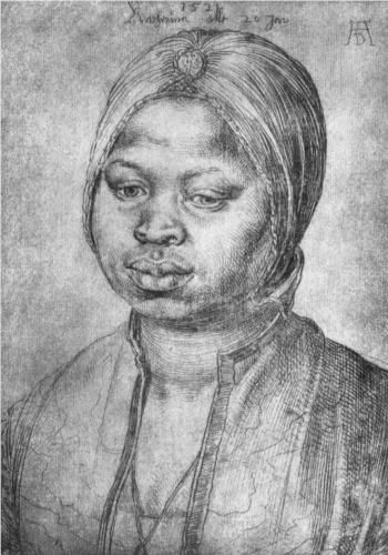 Portrait of African woman Catherine (Porträt der Afrikanerin Katherina) by Albrecht Durer, 1521