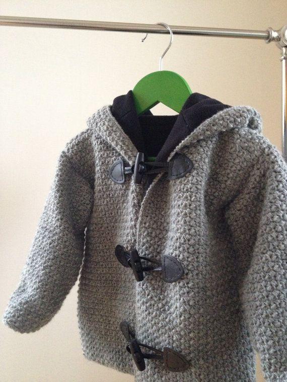 CROCHET PATTERN - DIY- Crochet pattern duffel coat, toddler, kids, children, baby