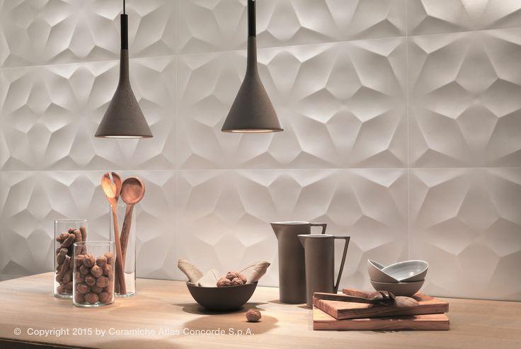 Revestimiento de pared 3D en pasta blanca DIAMOND by Atlas Concorde