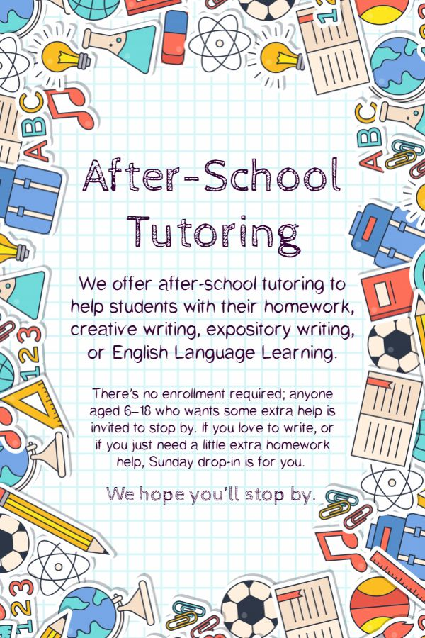 After School Language And Math Tutoring Flyer Template Tutoring