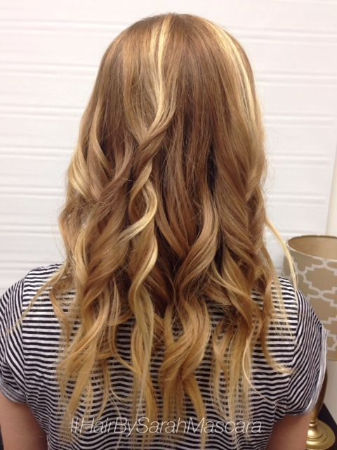 Beachy waves. Brown hair with subtle blonde highlights. Hair by Sarah Mascara in St. Paul Minnesota
