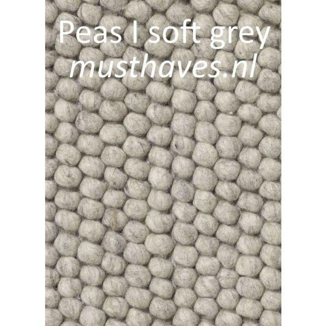 Peas vloerkleed HAY - 3 tinten grijs