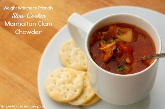Slow Cooker Manhattan Clam Chowder - 2 SmartPoints