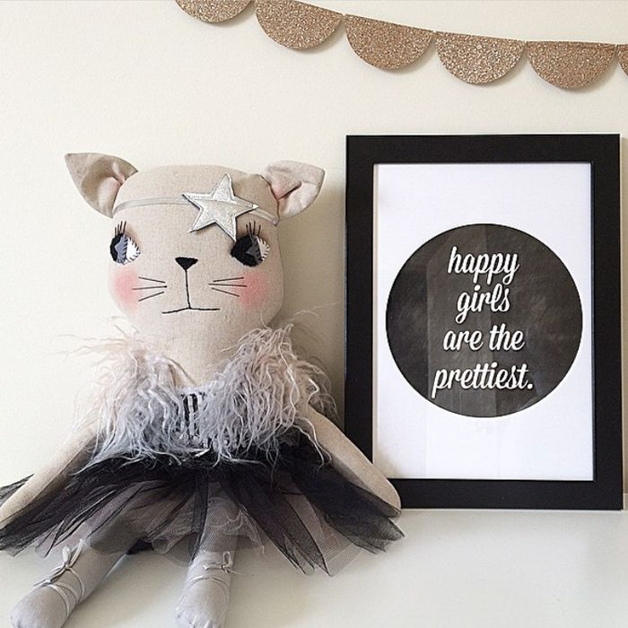 pixel paper hearts   wall print   happy girls