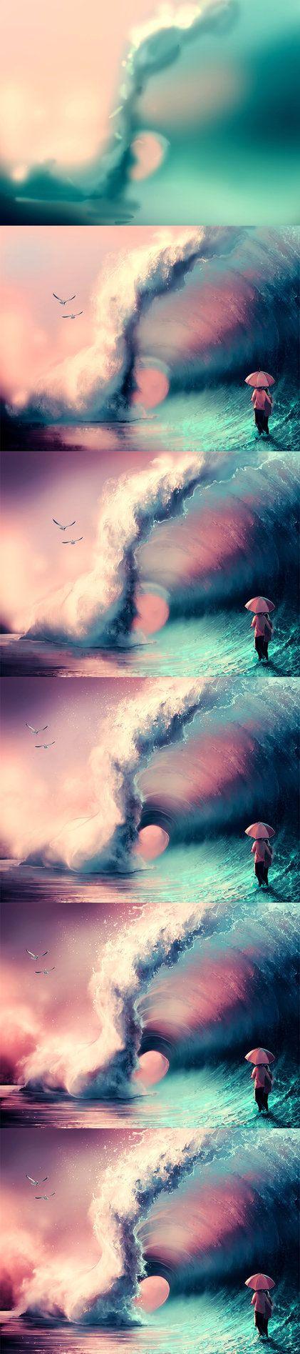 Não importa o tamanha da onda que esteja prestes a te afogar, eu não vou te deixar... NUNCA!  NJ