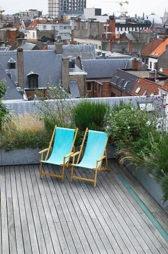 Bart & Pieter  Tuinarchitectuur - roofterrace - 4th floor - 85 m2 ...
