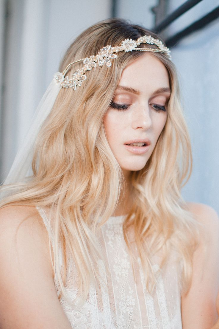 MABEL - our french lace, crystal and pearl boho veil