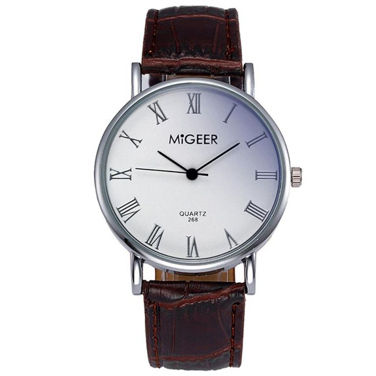 >> Click to Buy << 2017 New Fashion Men Watch Simple Style Analog Quartz Watch Clock Faux Leather Mens Dress Watches Roman Numerals Design relogio  #Affiliate
