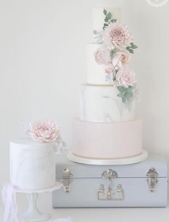 Empfohlener Kuchen: Baumwolle & Krümel; Hochzeitstorte Idee.   – Wedding Cakes