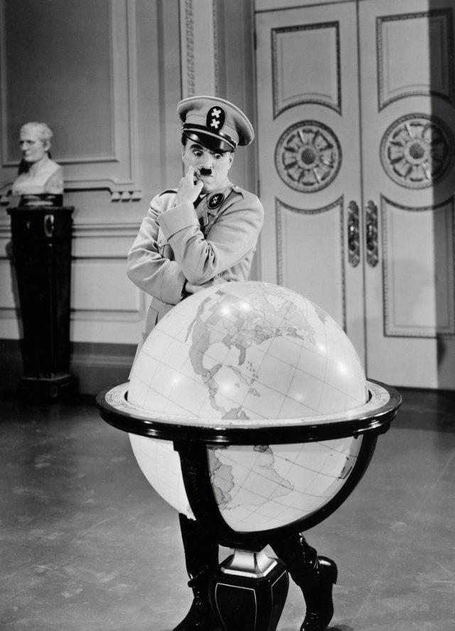 Charles Chaplin in The Great Dictator 1940 - @classiquecom