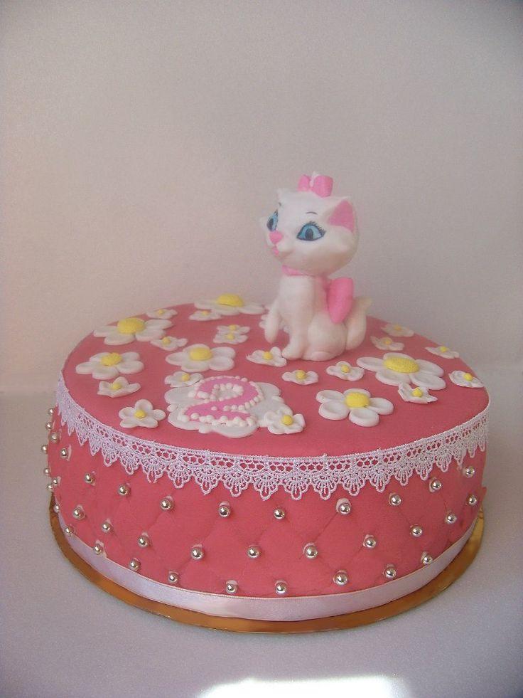 """Торт """"Котенок Мари"""" #торт_на_заказ_днепропетровск #день_рождения #бисквитный_торт"""
