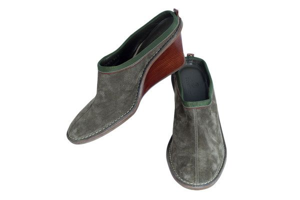 Cole Haan Olive Suede Clog-Style Slip On Pump SZ 8.5