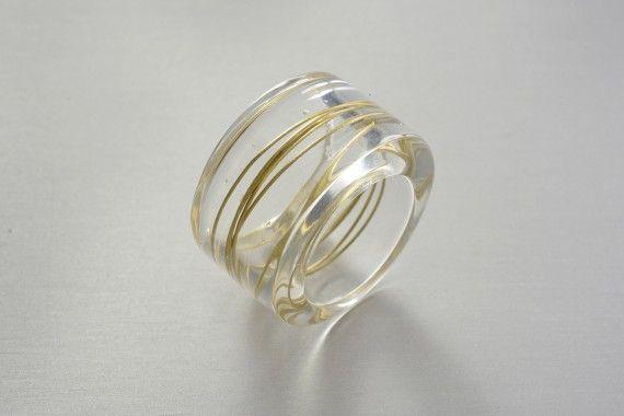 Orotrasparente Ring - Paola Mirai - Piercing Eyes | Distilled Art Pieces