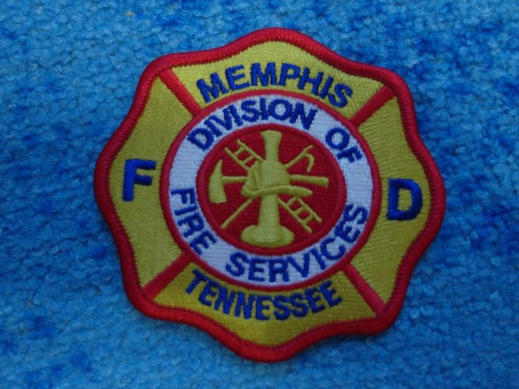 Patch fire Memphis fire department Division of Fire Services USA Tennessee  | eBay
