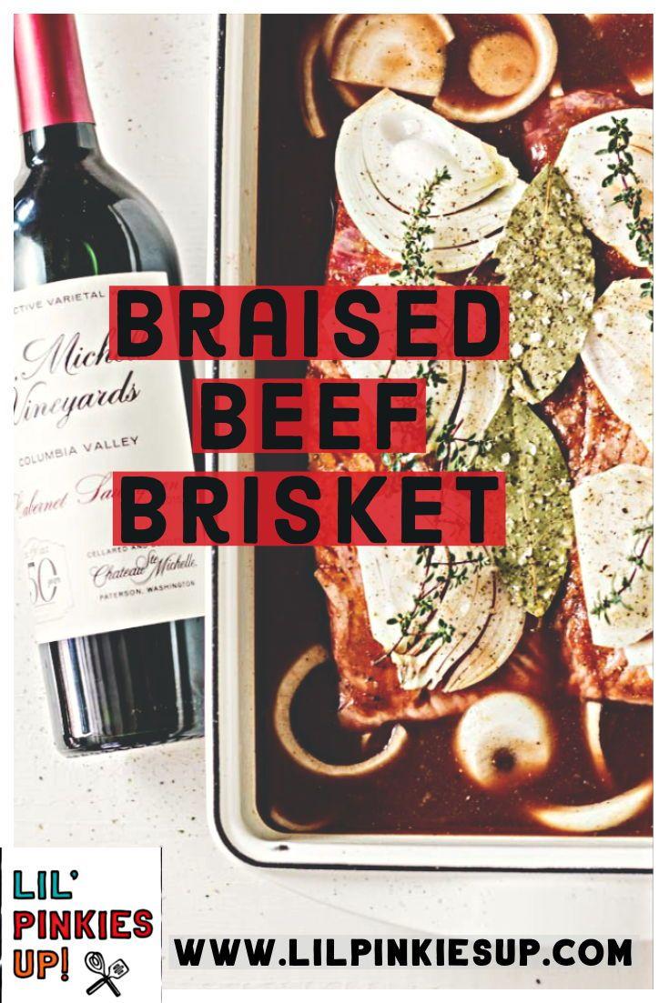 Red Wine Braised Beef Brisket Recipe Braised Beef Beef Brisket Beef Brisket Recipes