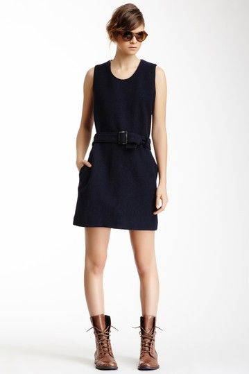 GANT By Michael Bastian Wool Belted Shift Dress by Non Specific on @HauteLook