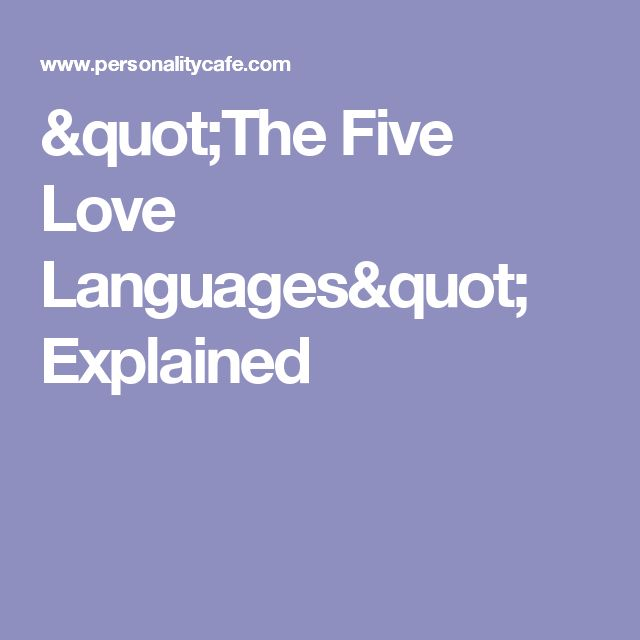 Love Each Other When Two Souls: 1000+ Ideas About 5 Love Languages On Pinterest