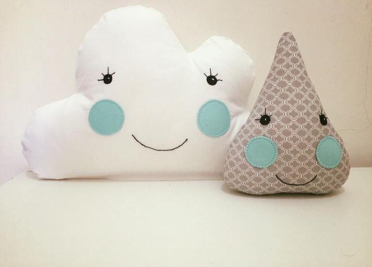Almofadas Divertidas para completar a decoração do quarto do bebê e das crianças. #patchbeni #patchdaisa #nuvem