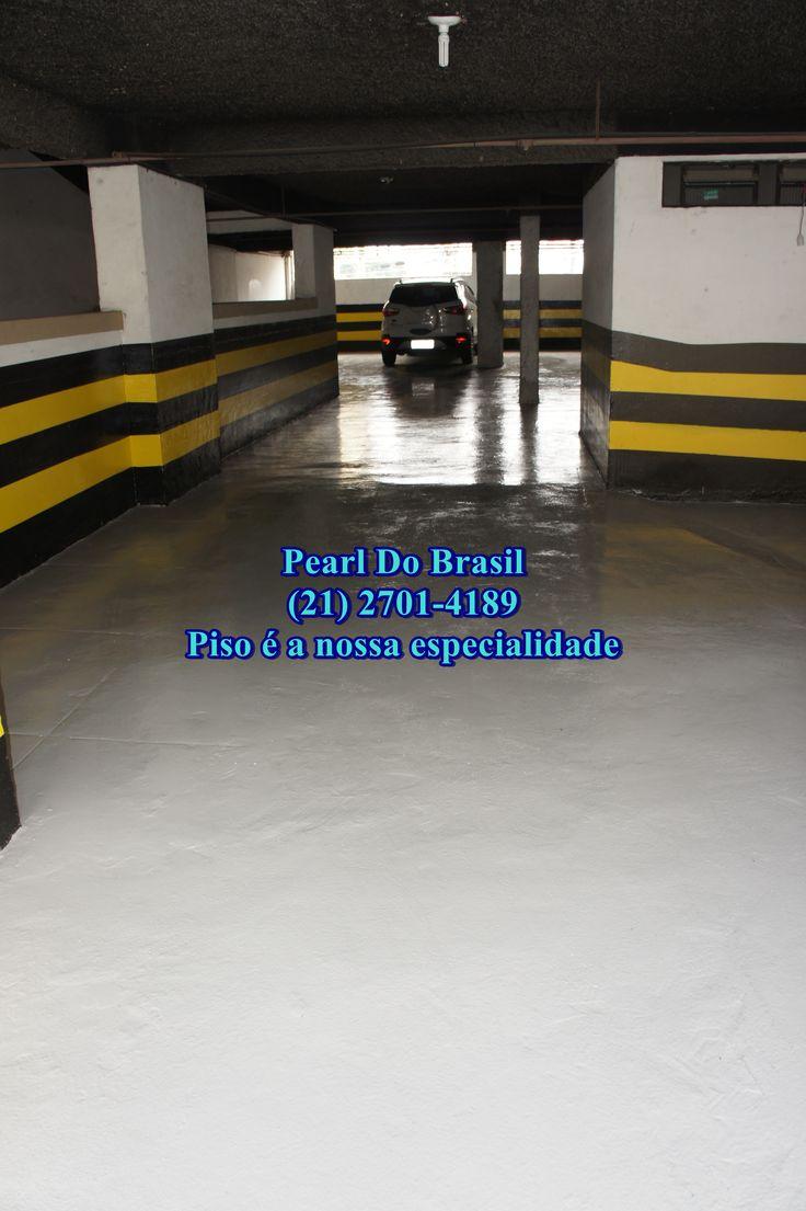 Pintura de piso epóxi em garagem