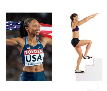 Olympian Workout Moves: Workouts: Self.com