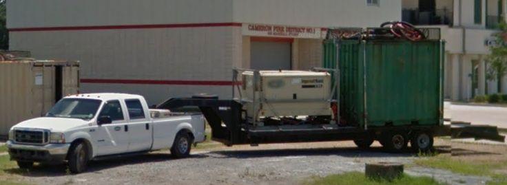 Ford pickup w/ gooseneck flatbed trailer